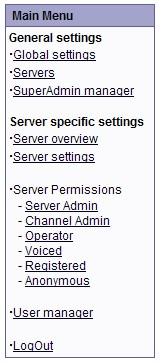 TS Server Options