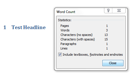 Degree dissertation word count
