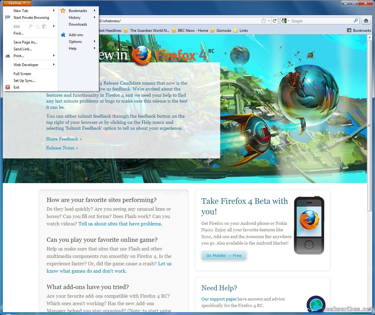 Firefox: Mozilla Firefox 4 Review – Jerusalem House