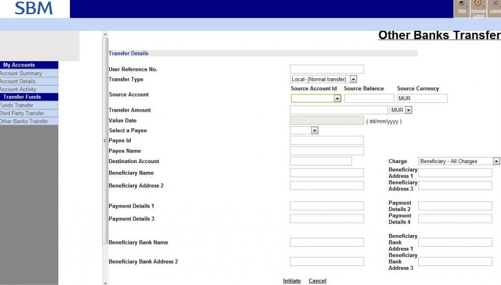 sbm internet banking application form
