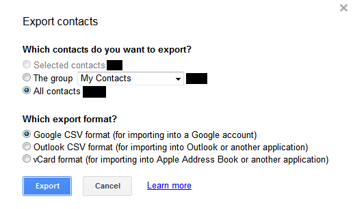 Gmail Export Format